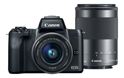 canon eos m50 mirrorless camera kit w ef m15 45mm + ef m