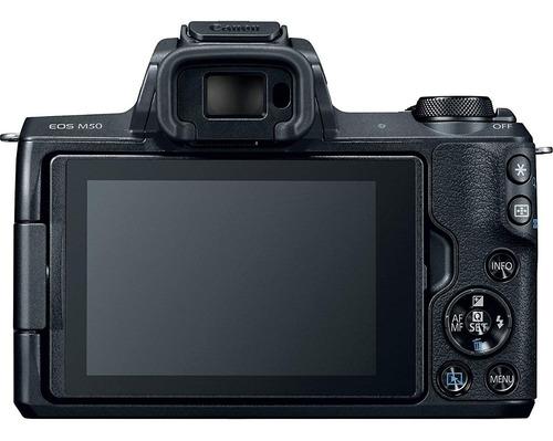 canon eos m50 mirrorless digital camera black with ef-m 15-4