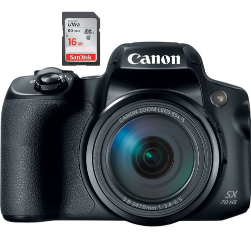 canon sx70 /65x / 4k / wifi / 24mpx / digic 8 / mejor a sx60