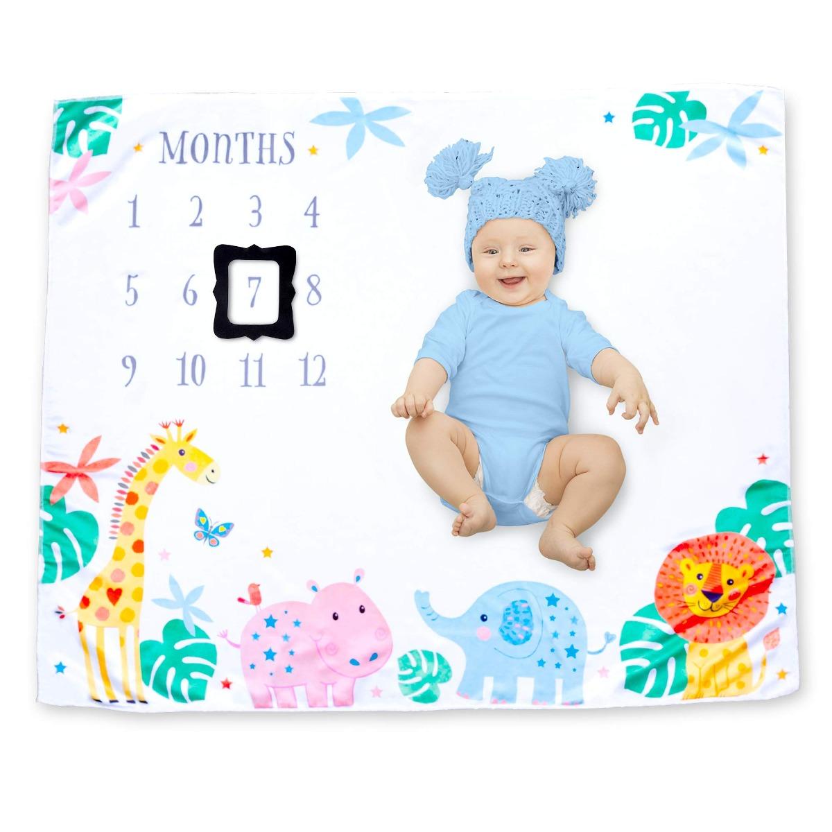 Capullo Infantil Baby Mensual Hito Manta Fotografía Fondo - U$S 42 ...