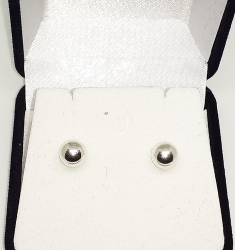 caravanas perlas plata 925 6mm