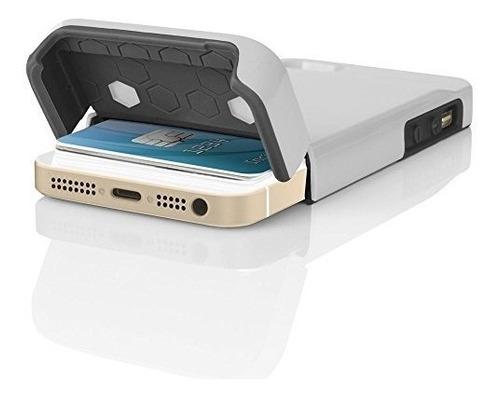 carcasa billetera incipio c/tarjetero para iphone 5, 5s, se