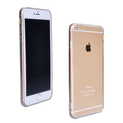 carcasa iphone 6s clear acrylic back cover+tpu bumpe