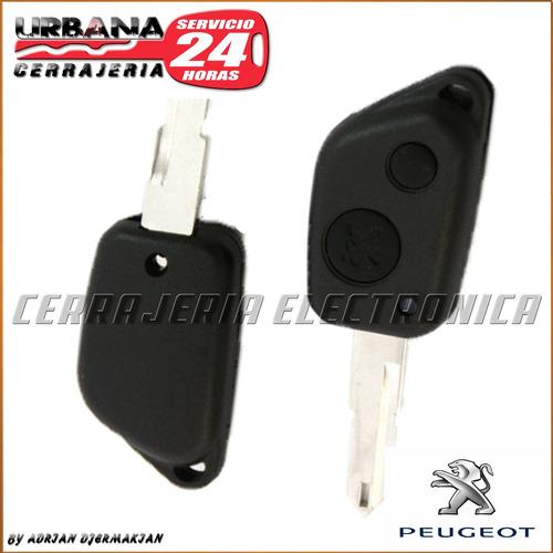 carcasa llave peugeot 306 2 botones cerrajeria urbana