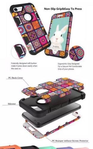 carcasa protector iphone 7 plus 8 plus tricapa tpu y plastic