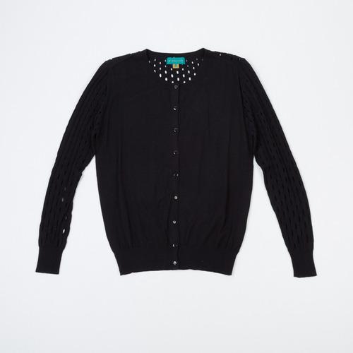 cardigan calado negro scbell02/13 tienda oficial