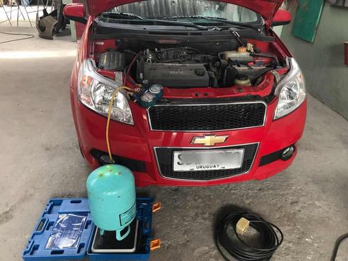 carga de aire acondicionado automotriz. carga de gas aire ac