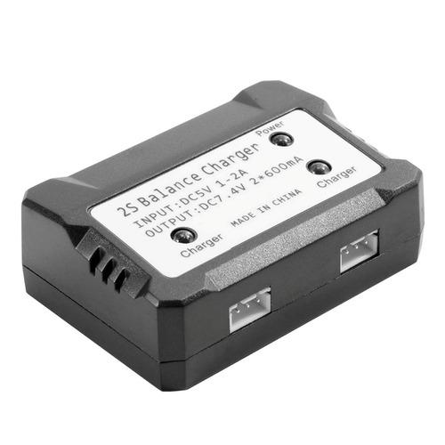 cargador bateria doble 7.4 v con estabilizador de corriente