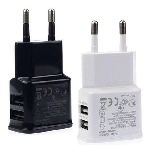 cargador de pared doble usb tablet y celular dual de 2 amp ®