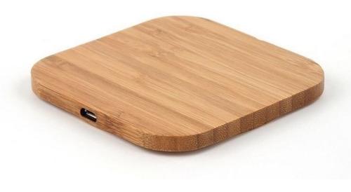 cargador inalámbrico de bamboo para iphone / samsung / lg