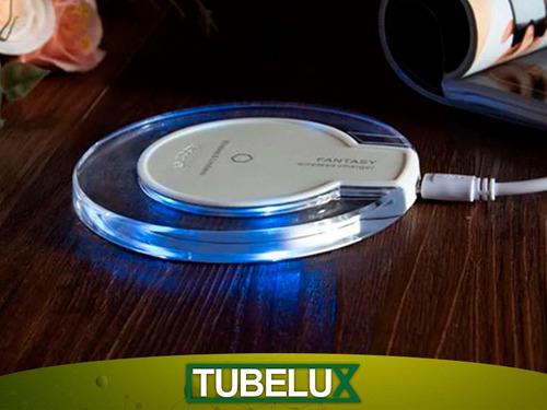 cargador inalámbrico qi pad iphone x 8 s6 s7 s8 s9 note