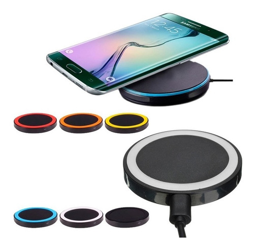 cargador inalámbrico samsung s7 s8 iphone x y 8 wireless