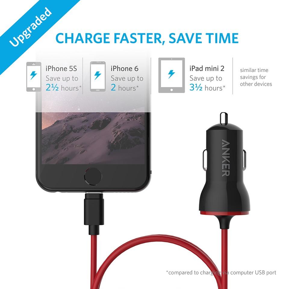 e74e450433a cargador rapido anker 2.4a lightning iphone 5,6, 7, 8, ipad. Cargando zoom.
