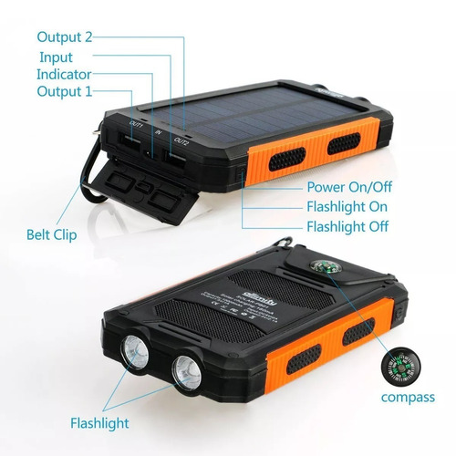 cargador solar 10.000 mah,batería portatíl