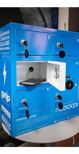 cargadores para celulares tipo lockers para eventos.