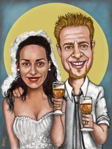 caricaturas fiestas regalos cumpleaños casamientos