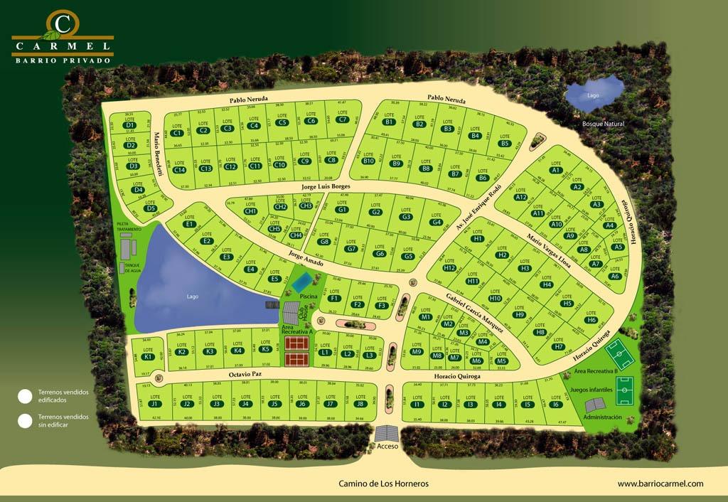 carmel barrio privado - el mejor terreno en venta.