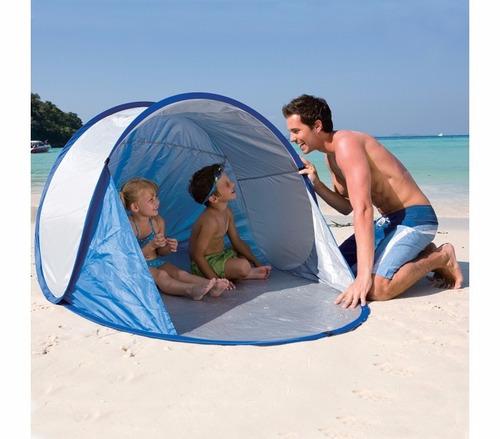 carpa playa protección uv tienda 2 personas bolso p/ llevar