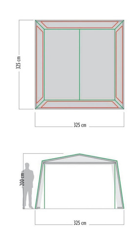 carpa waterdog comedor royal house con piso 325x325x200