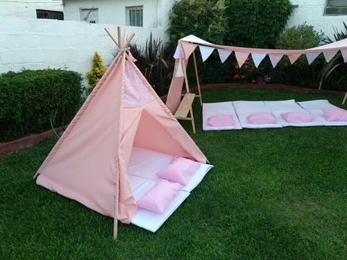 carpitas casitas  juego niños party pijamada dia del niño