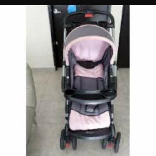 carreola mammamia color rosa con gris