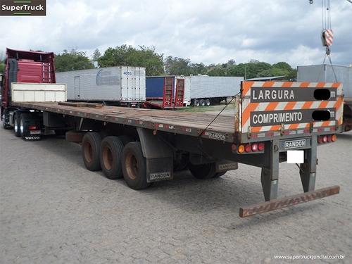 carreta prancha extensiva 3 eixos  randon ano 2008 sem pneus