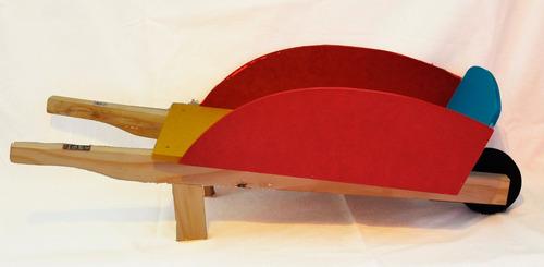 carretilla de madera infantil ideal juegos al aire libre