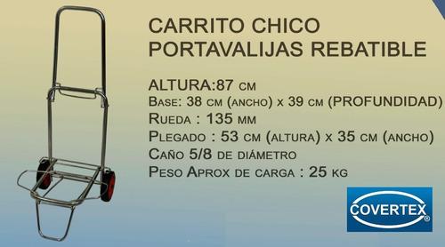 carrito carro porta valija bolso carga plegable resist. 30 k
