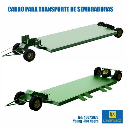 carro playo transporte de sembradoras hidráulico j. hartwich
