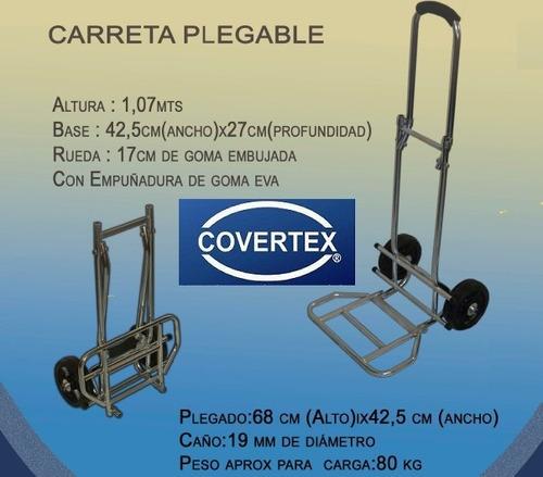 carro plegable zorra carga portátil equipaje mudanza 80 kg
