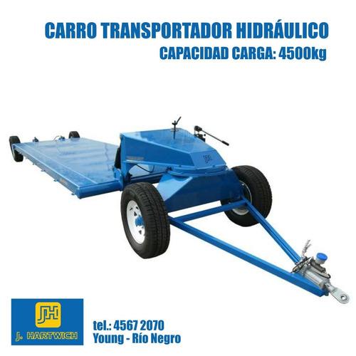 carro transportador hidráulico multiuso 4500kg j. hartwich