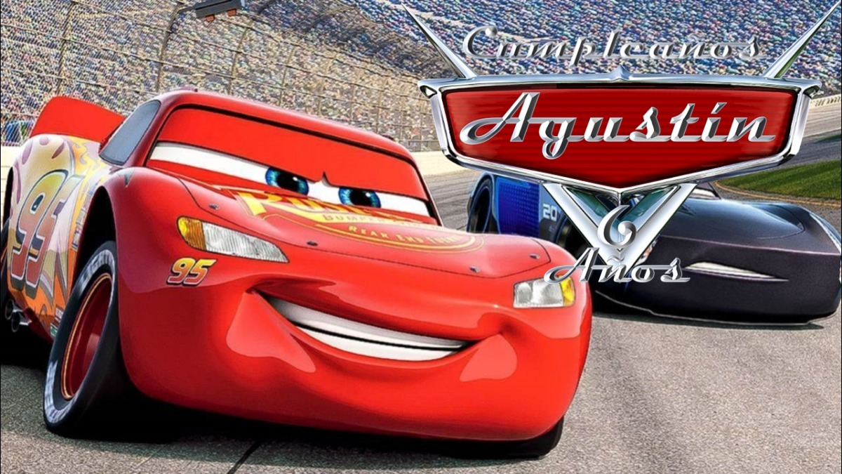 Cars 3 Vídeo Tarjeta Invitación Cumpleaños Whatsapp Digital