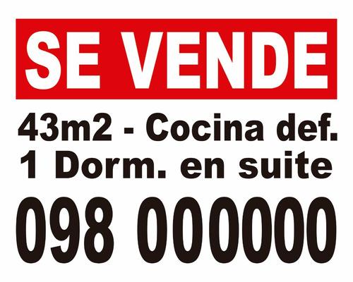 cartel 50x40cm / se vende o alquila casa apartamento