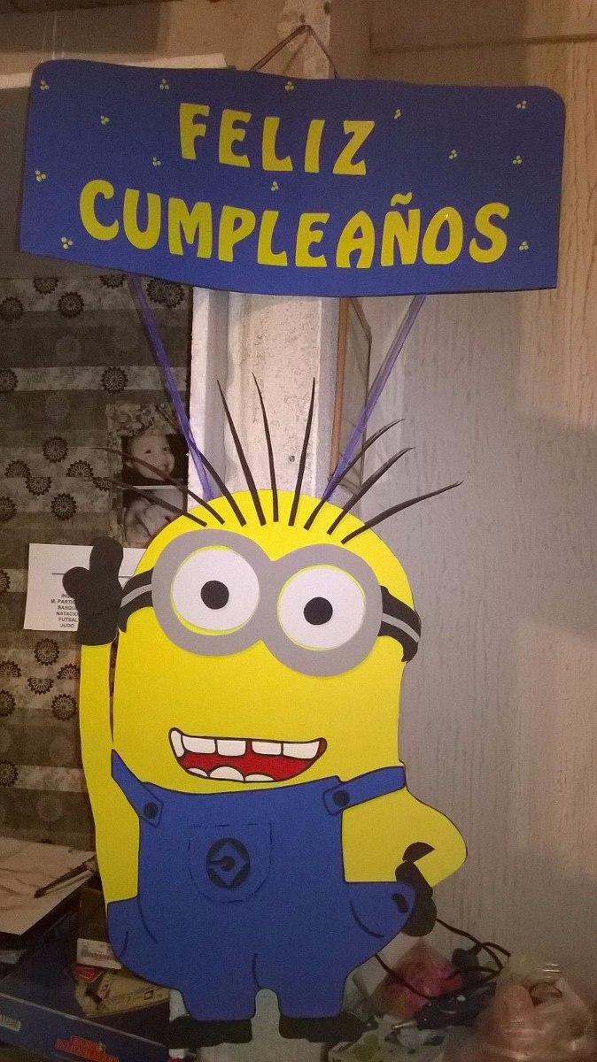 Cartel Colgante De Feliz Cumpleaños De Minions 27000 En Mercado