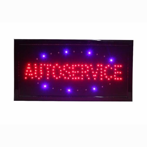 cartel luminoso autoservice