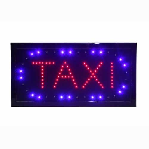 cartel luminoso taxi