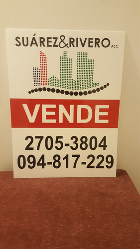 cartel vendo alquila casa apartamento carton plast vinilo