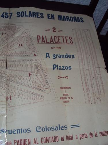 cartel venta de solares union  y maroñas-fco.pira