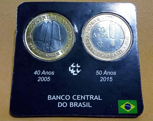 cartela para moedas de 1 real comemorativas ao banco central