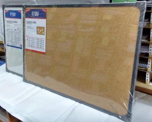 cartelera de corcho 30 x 40 cm marco metálico