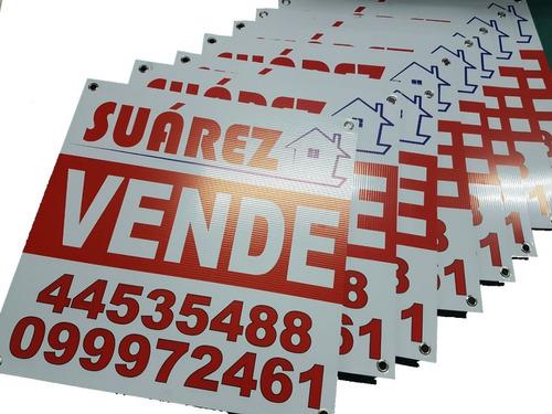 carteles alquiler venta inmobiliarias y dueño de propiedad
