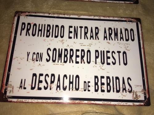carteles chapa tipo antiguo frases barbacoa 30x20