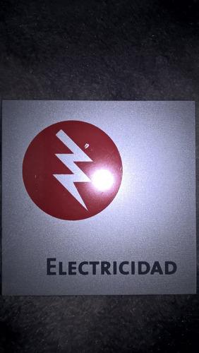 carteles indicadores de aluminio 14x14cm
