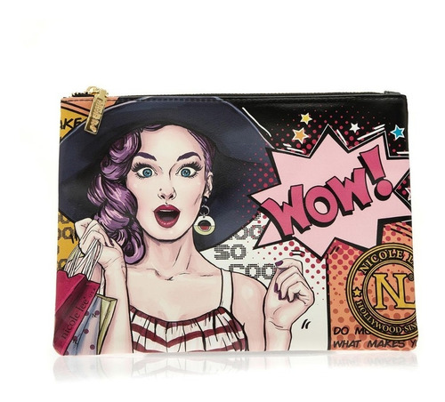 cartera dama neceser + sobre nicole lee usa wow! (prt13012)