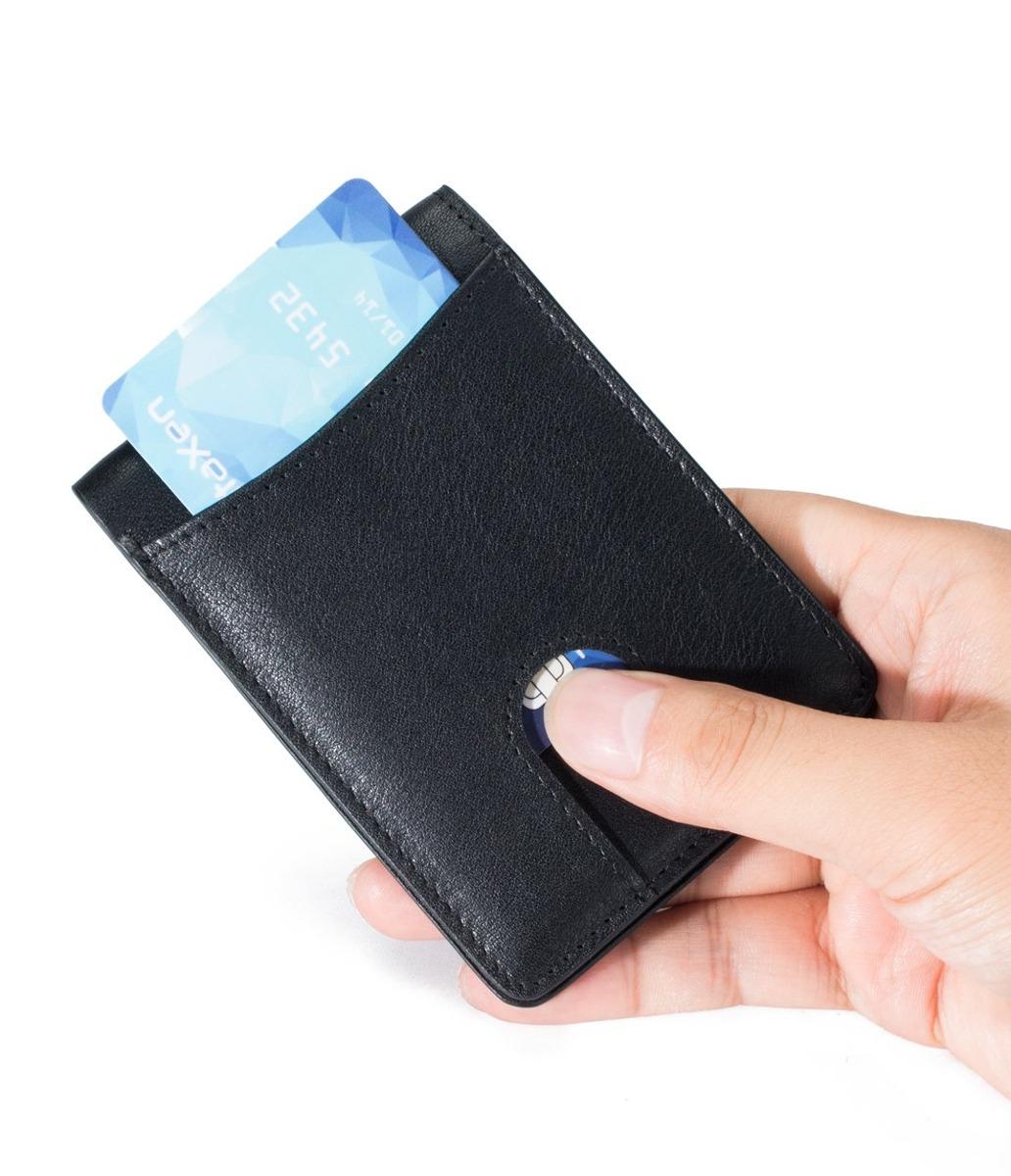 44597875a cartera de cuero para hombre cartera de bolsillo frontal. Cargando zoom.