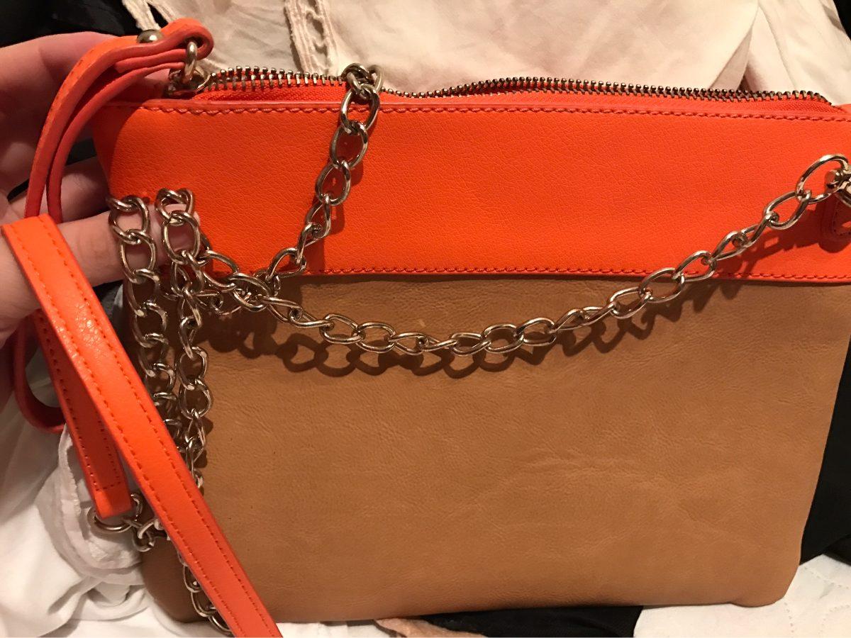 de68cbb45 Cartera Sobre Zara (beige Y Naranja) - $ 550,00 en Mercado Libre