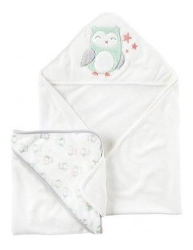 carters accesorios set toalla de baño 2 pk buho bco unisex f