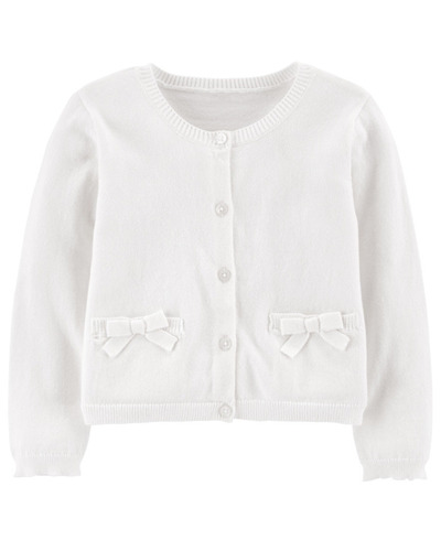 carters sweater blanco niña 6m eg21