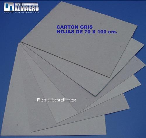 carton gris prensado 2.0 mm.2 hojas 70x100 cm. p/encuadernar