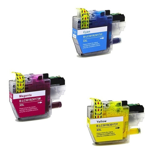cartuchos color xxl para impresora brother mfc-j6730,lc3019,